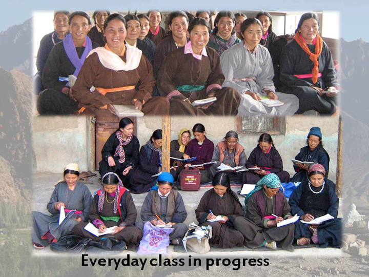 Womans Literacy Program Class in progress