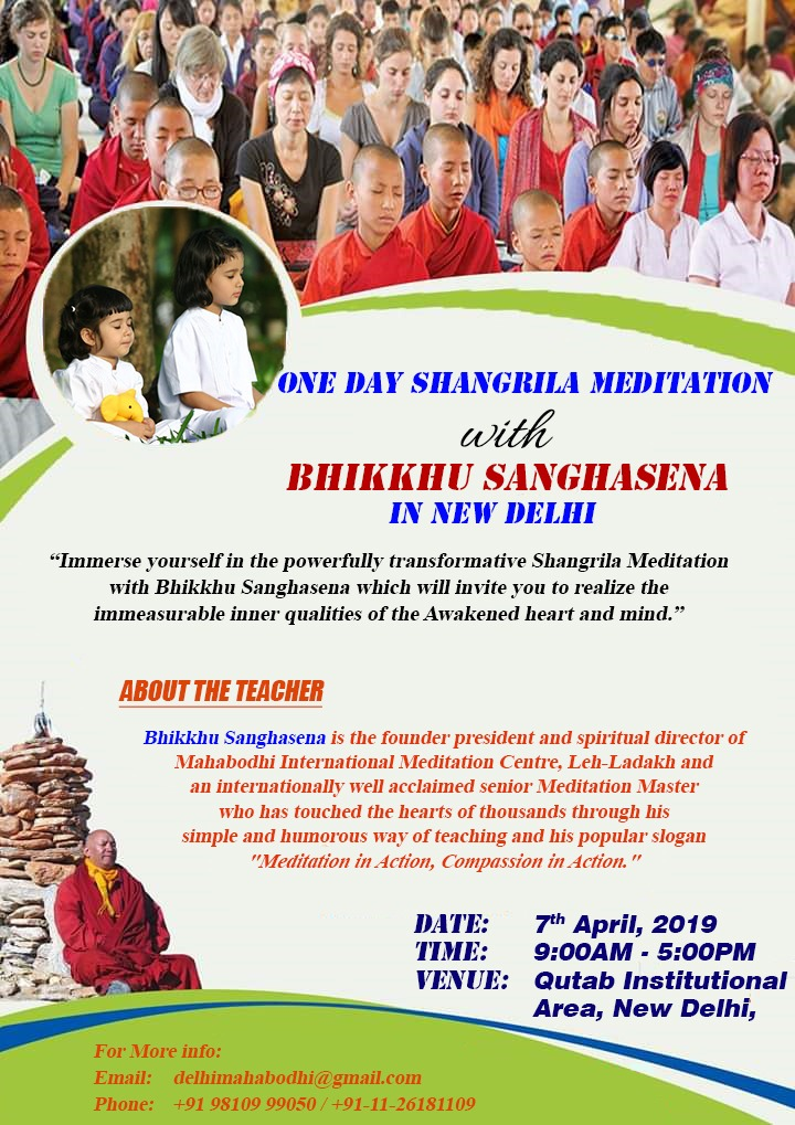 One day meditation in Delhi